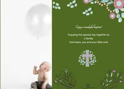baptism card 129 menu text