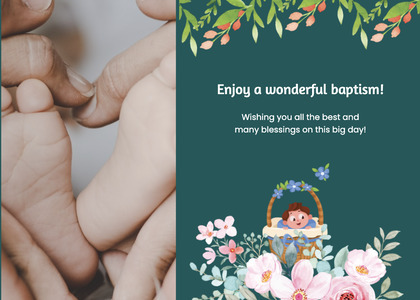 baptism card 133 person human