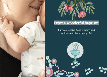 baptism card 137 person poster