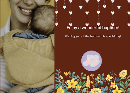 baptism card 138 newborn person