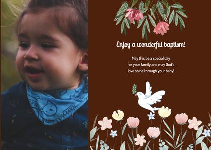 baptism card 142 clothing apparel