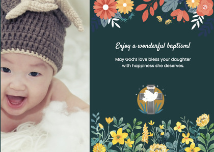 baptism card 143 clothing apparel