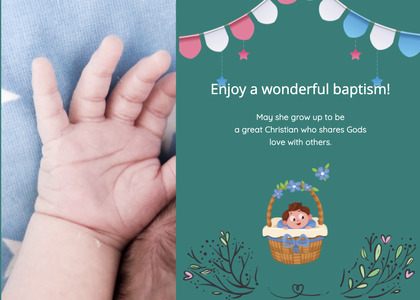 baptism card 145 person flyer