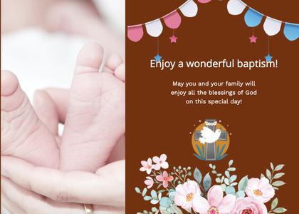 baptism card 152 person human