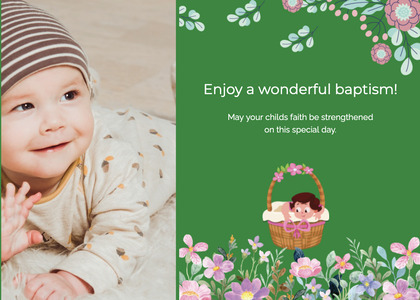baptism card 153 person baby
