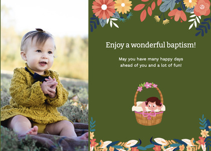 baptism card 157 person clothing