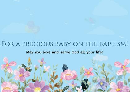 baptism card 16 graphics art