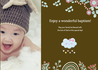 baptism card 160 clothing apparel