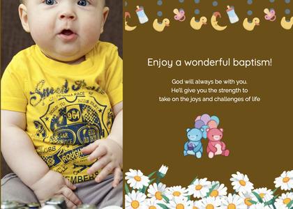 baptism card 164 advertisement poster