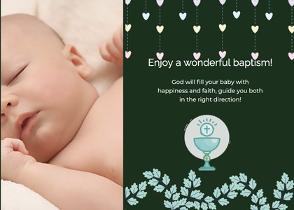 baptism card 165 baby person