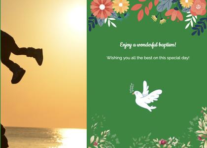 baptism card 167 bird animal