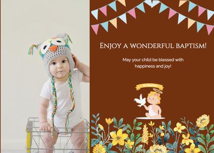 baptism card 168 advertisement poster