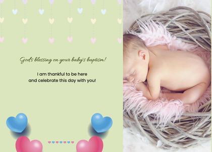 baptism card 176 furniture newborn
