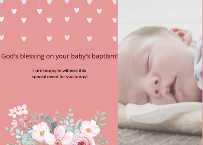 baptism card 178 newborn person
