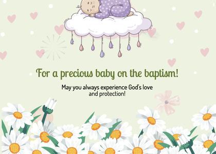 baptism card 18 graphics art