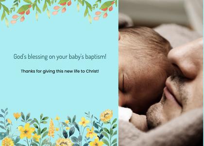 baptism card 183 sleeping asleep