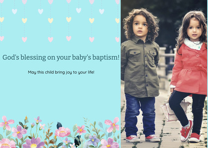 baptism card 186 person blonde