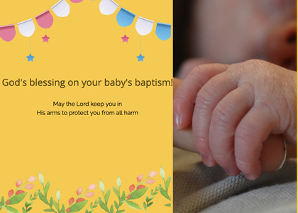 baptism card 188 person human