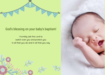 baptism card 189 newborn person