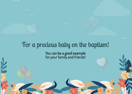 baptism card 19 poster advertisement
