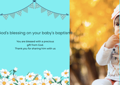 baptism card 192 person human