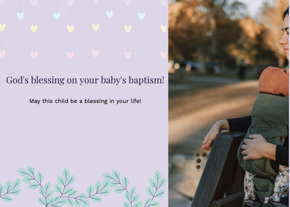 baptism card 197 person clothing