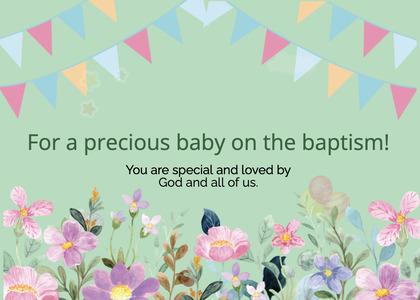 baptism card 20 graphics floraldesign
