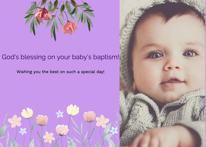 baptism card 205 face person