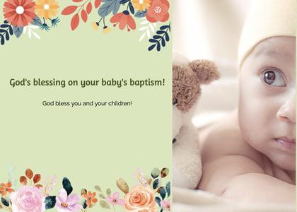 baptism card 206 newborn person
