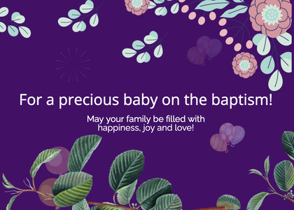 baptism card 208 plant envelope