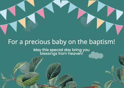 baptism card 209 poster advertisement
