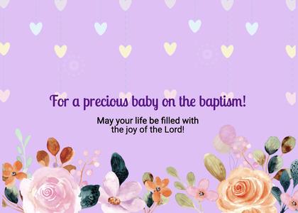 baptism card 21 envelope mail