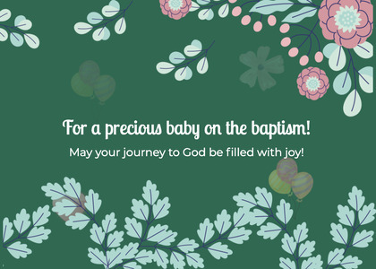 baptism card 210 graphics art