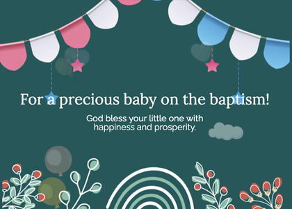baptism card 211 envelope mail