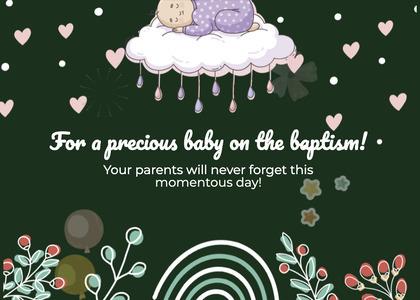 baptism card 215 graphics art