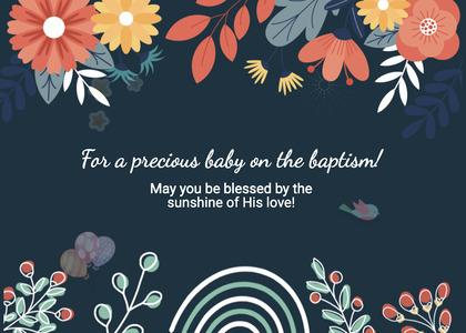 baptism card 216 graphics art
