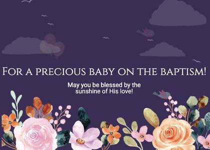 baptism card 217 advertisement poster