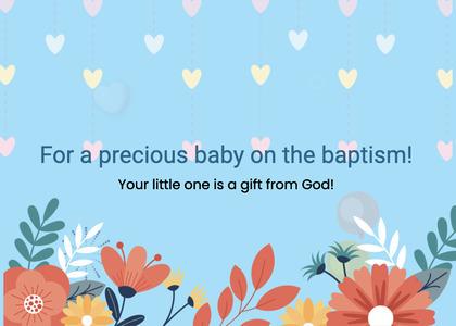 baptism card 22 graphics art