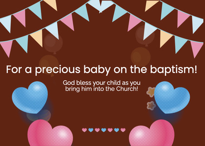 baptism card 220 advertisement poster