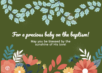 baptism card 221 floraldesign graphics