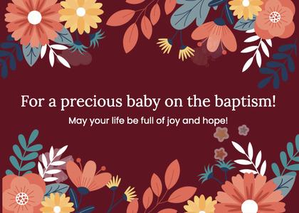 baptism card 223 graphics art