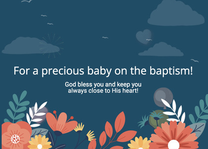 baptism card 225 graphics art