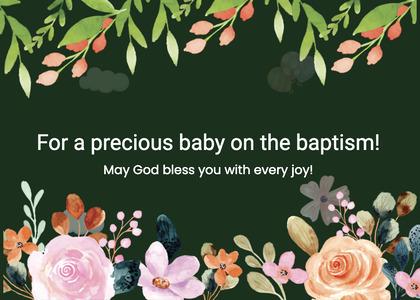 baptism card 226 graphics art