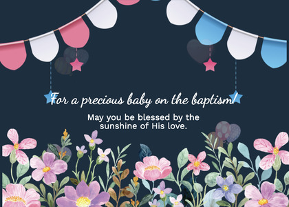 baptism card 227 envelope mail