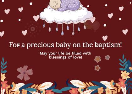 baptism card 229 cream food