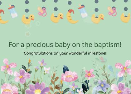 baptism card 23 mail envelope