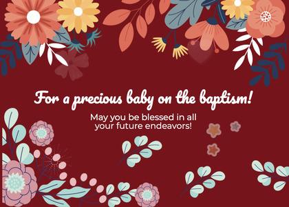 baptism card 231 floraldesign graphics