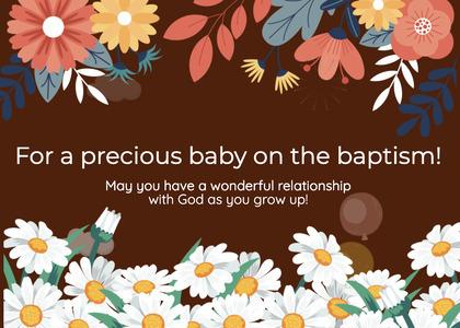 baptism card 234 graphics art