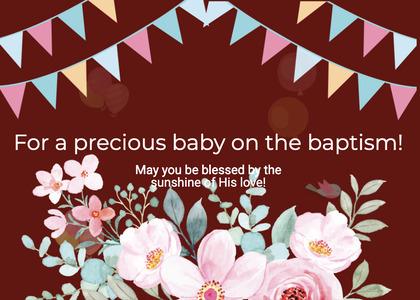baptism card 237 envelope mail