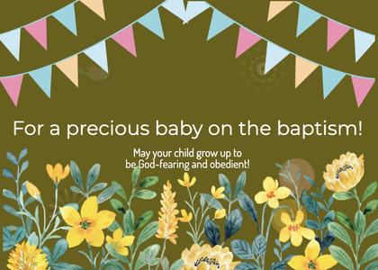 baptism card 240 advertisement poster